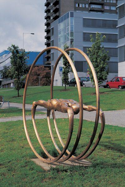 Michal Gabriel - Cesta - pohled na umístění sochy